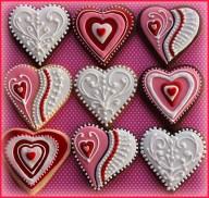 Valentine's Iced Cookies