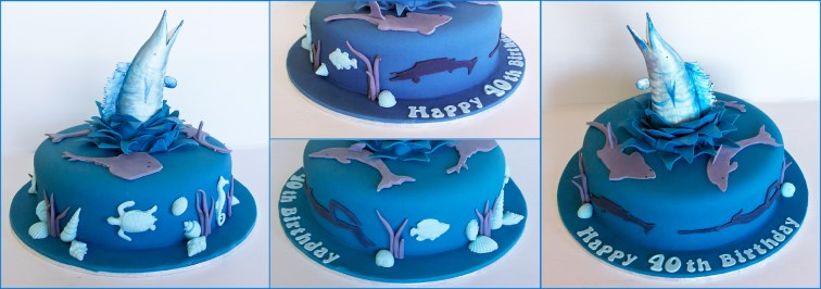 Ocean Cake with Leaping Fish
