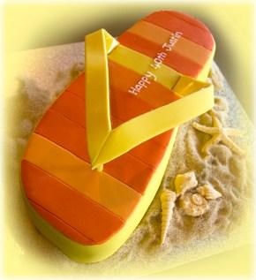 Stripe Flip Flop Cake