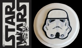 Stormtrooper Cake, hand painted