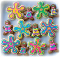 Psychedelic Gingerbread men