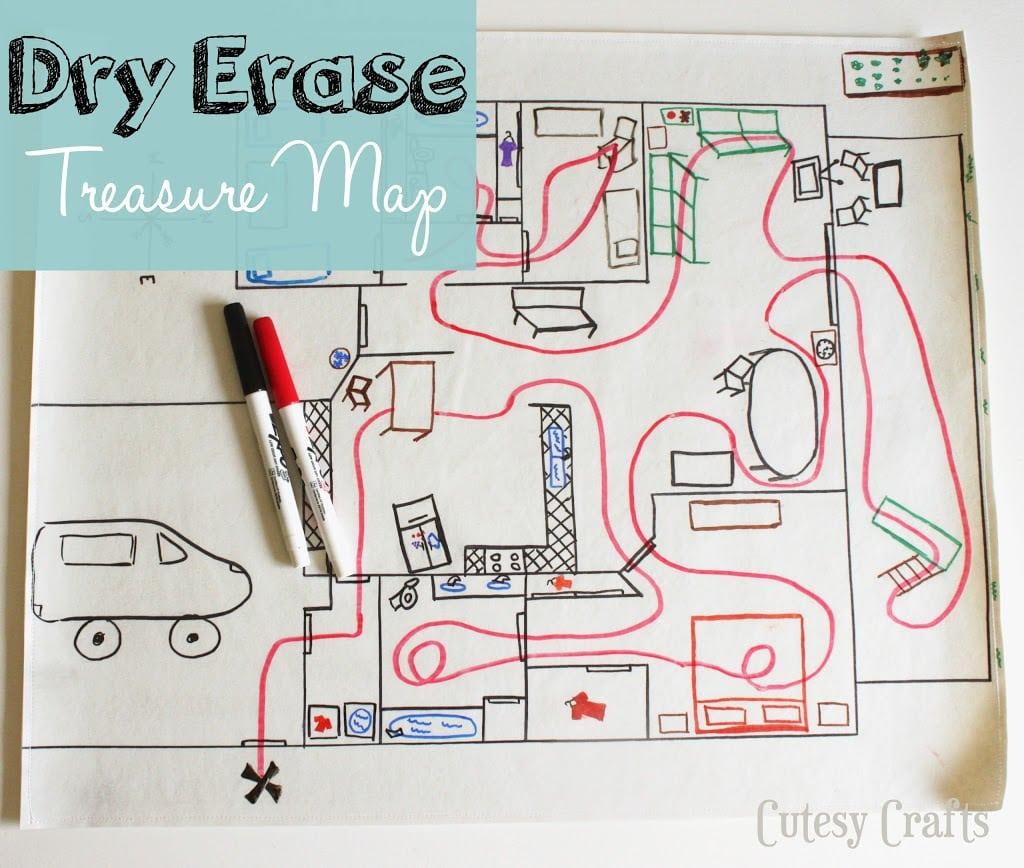 Dry Erase Treasure Map
