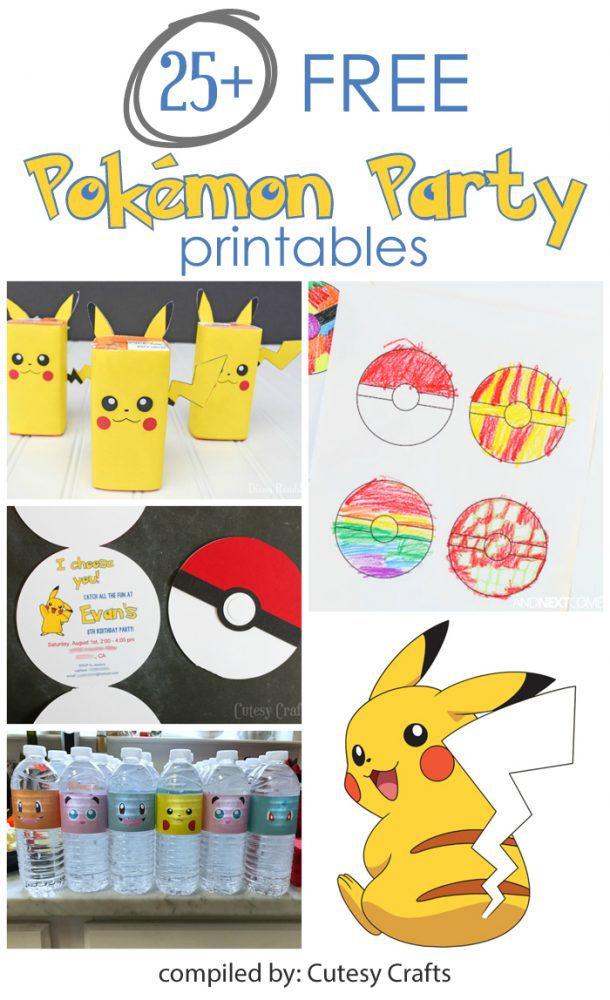 25 free pokemon party printables