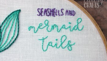 Mermaid Embroidery Hoop Pattern