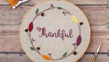 Embroider Leaves with the Fishbone Stitch - Cutesy Crafts