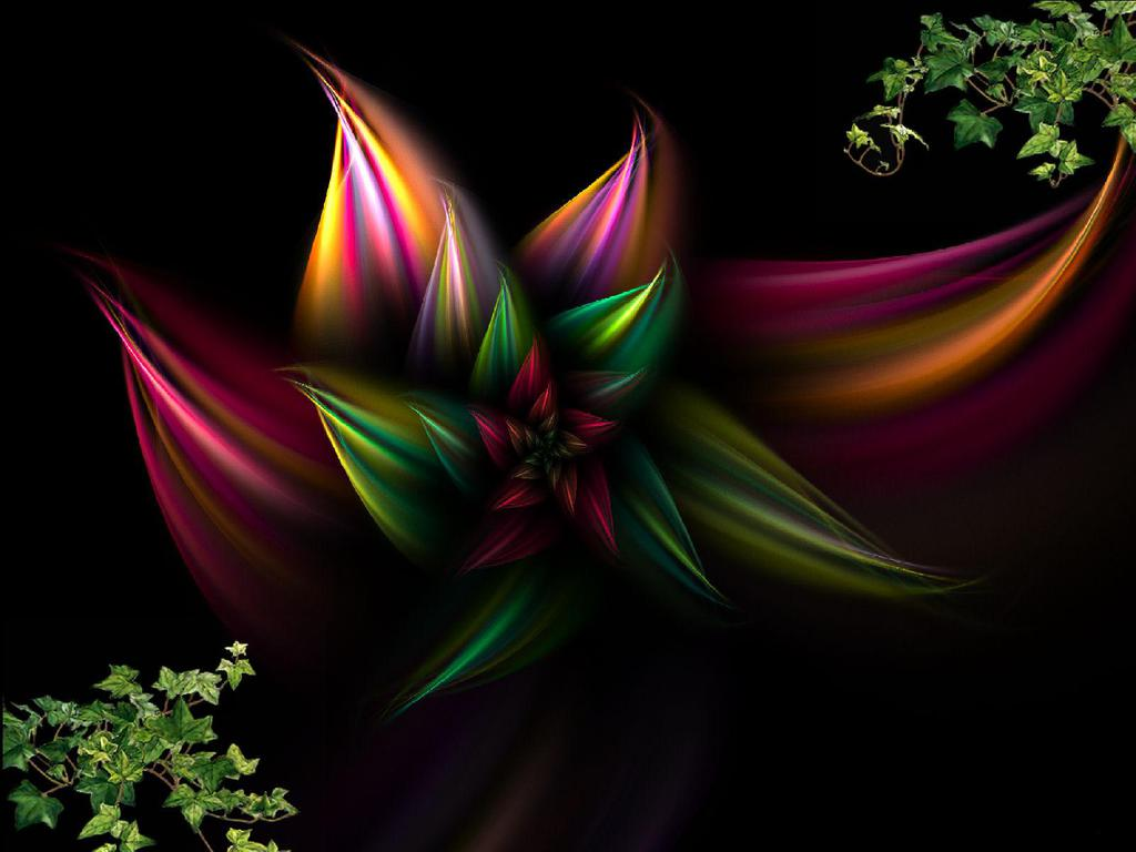 Abstract Floral Wallpaper Posted By Michelle Peltier