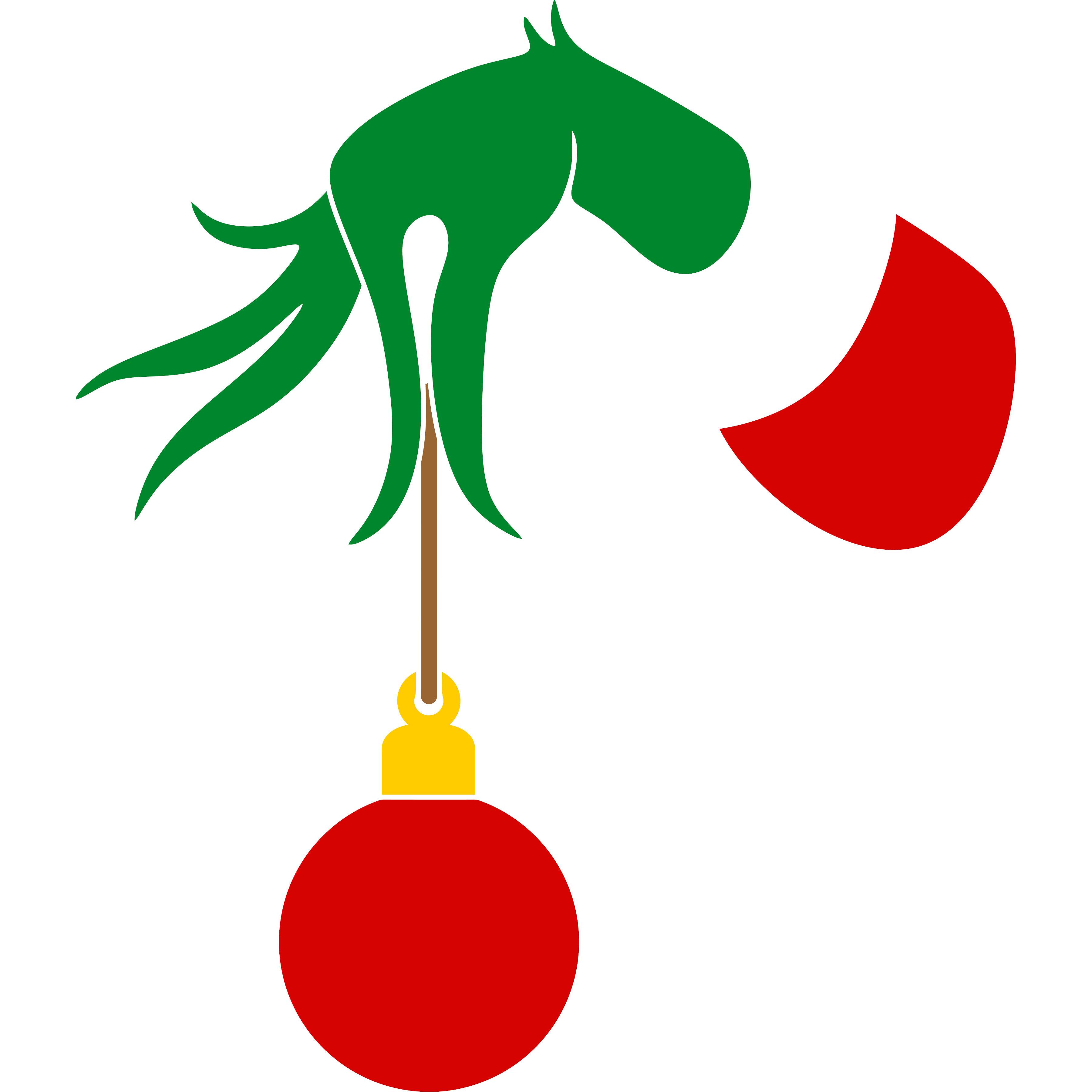 Christmas Bulb Png.Christmas Bulb Gift Grinch Hand Svg And Png Cutfilesplus