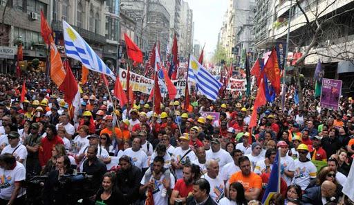 Apoio da CUT a PIT-CNT e á clase traballadora Uruguaia