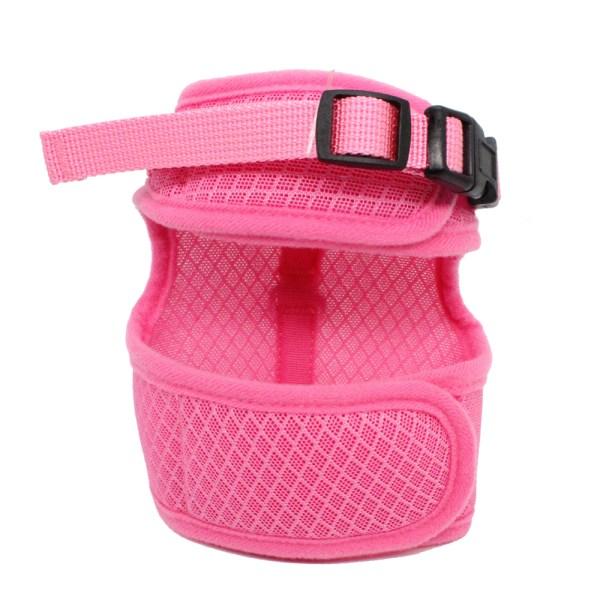 Roze katten tuigje met riem