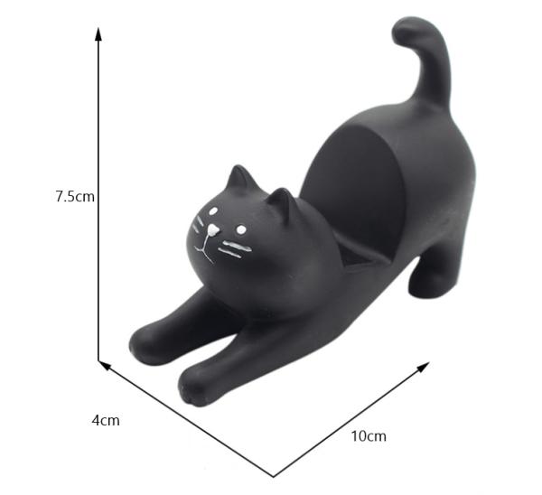 Kattenbeeldje voor op het bureau zwart maten