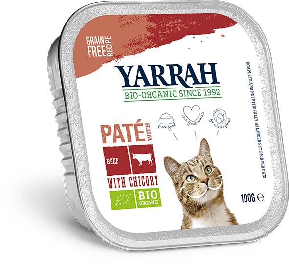 Yarrah Biologisch Kattenvoer Paté 100g rund