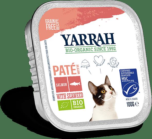 Yarrah Biologisch Kattenvoer Paté 100g zalm