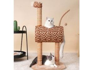 Mooie Middelgrote Giraf Krabpaal
