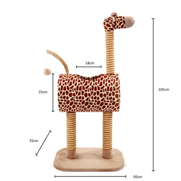 Afmetingen van de Mooie Middelgrote Giraf Krabpaal