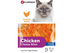 Gedroogde kip met kaas snacks voor katten 85g