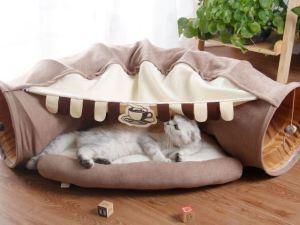 Kattentunnel & cat cave 2 in 1