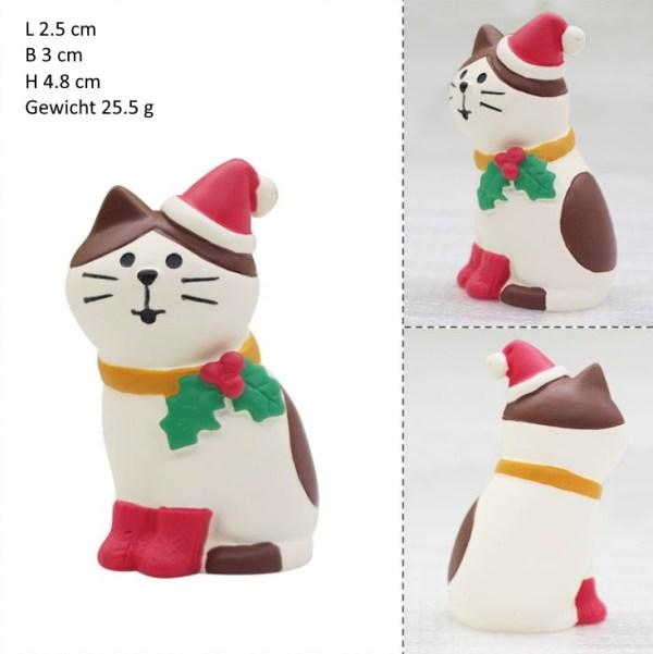 De kerstkat is een leuk Kerst Kattenbeeldjes