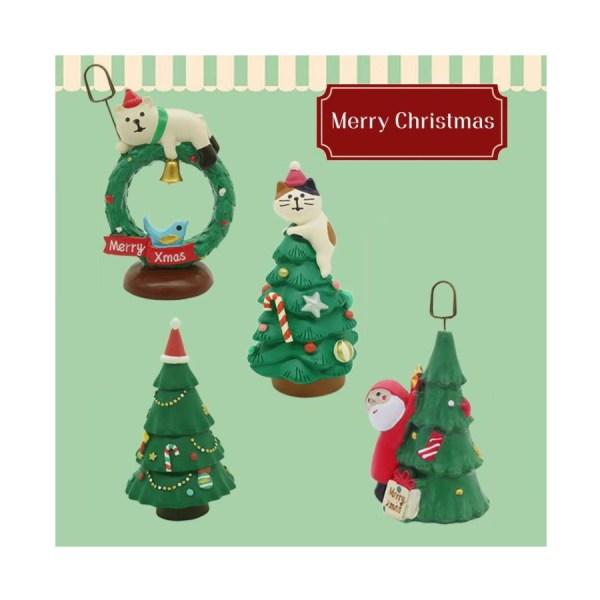 Verschillende leuke Kerst Kattenbeeldjes