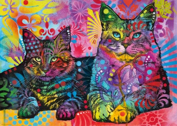 Puzzel met Katten 1000 stukjes - Jolly Pets