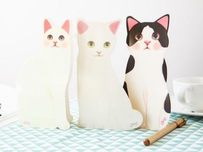 3D Kattenkaarten met Envelop