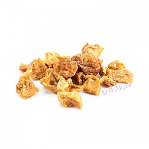 Akyra 100% Gedroogd Vlees voor Katten 250g Kippenborst nuggets