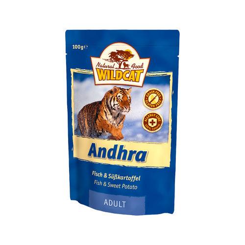 Wildcat Natvoer voor Katten 100gAndhra (vis & zoete aardappel)
