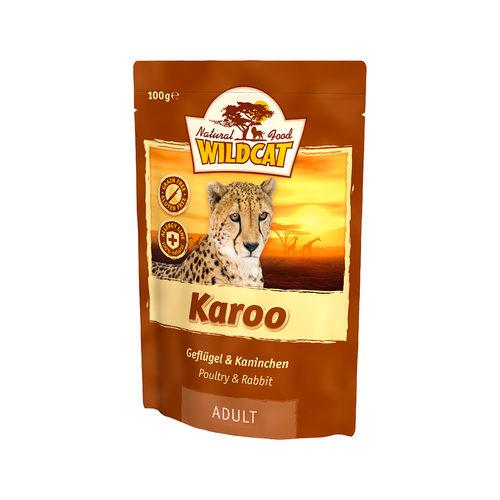 Wildcat Natvoer voor Katten 100g Karoo (gevogelte & konijnen)