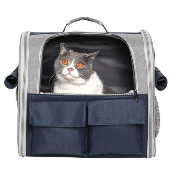 Stevige Katten Rugzak is geschikt voor katten tot 8 kilo