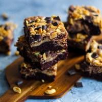 [Rezept] Erdnussbutter-Brownies (vegan)