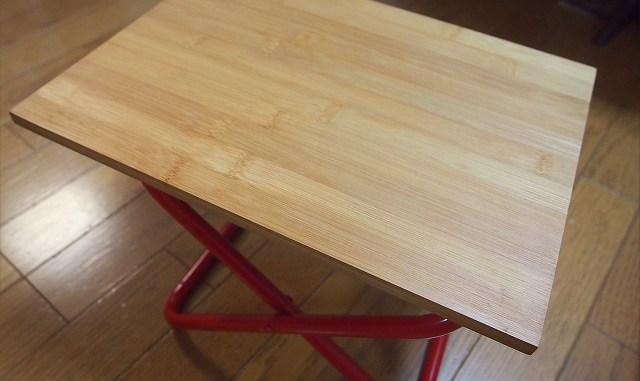 100均材料で折りたたみ式サイドテーブル