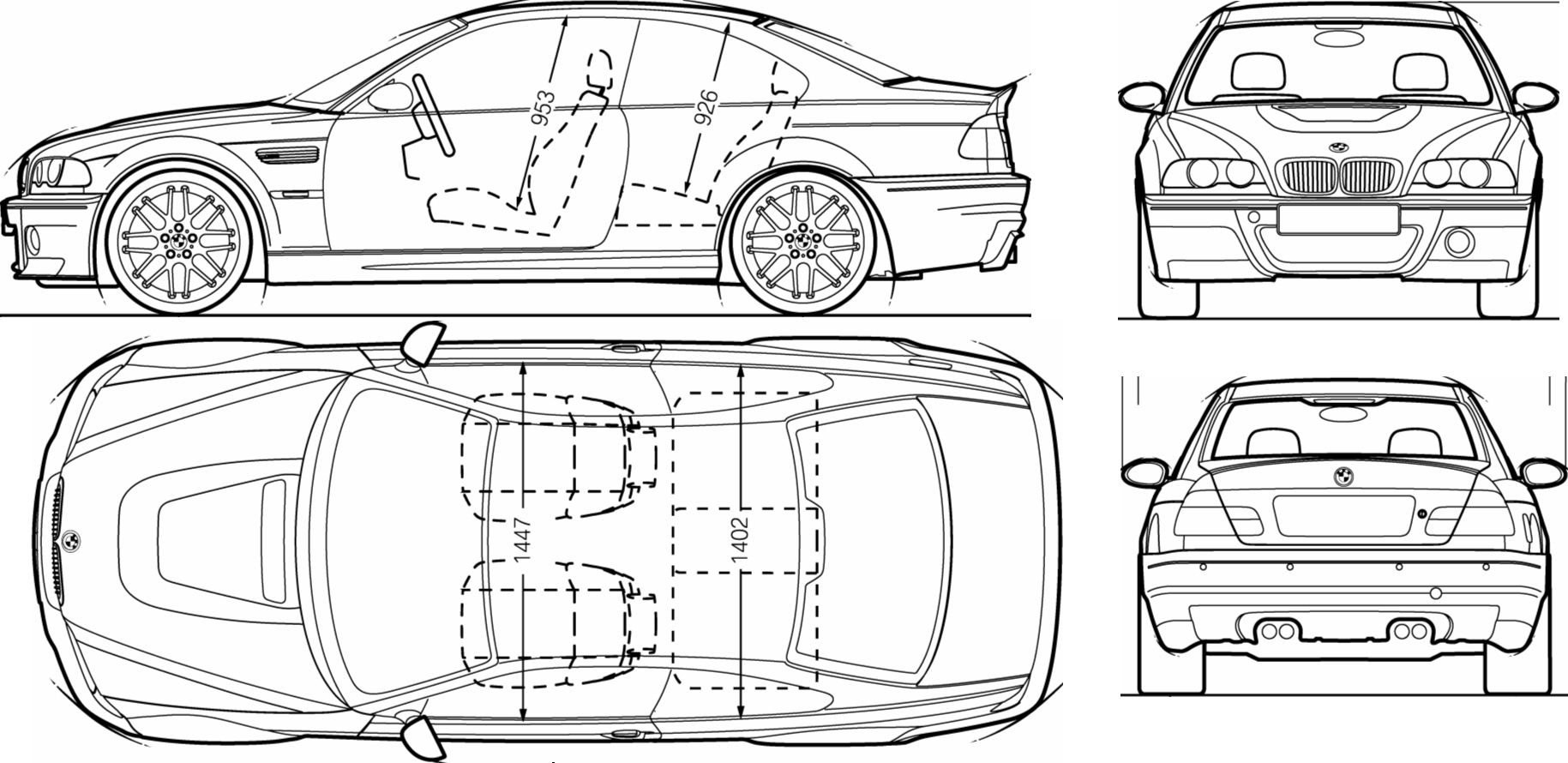 Bmw M3 Csl Blueprint