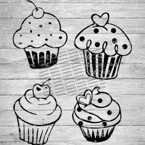 14+ Halloween Cupcakes Bundle, Svg Cutting Files SVG