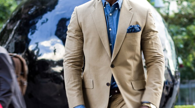 Khaki suit: A wise choice