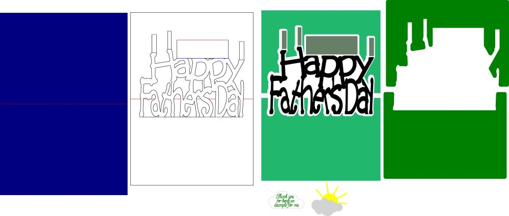 Cutting files to Make Father's Day Popup Card