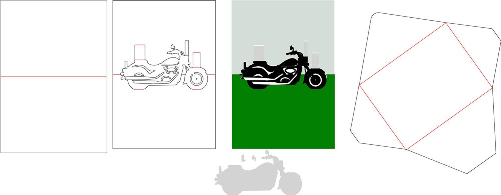 Cutting Files for motorcycle popup card