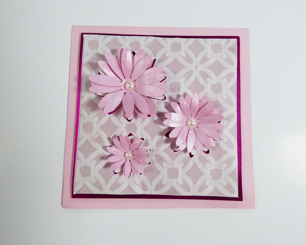 Embossed Popout Daisy Card