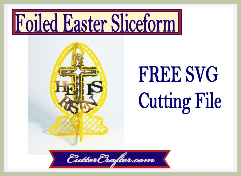 Foiled Easter Sliceform
