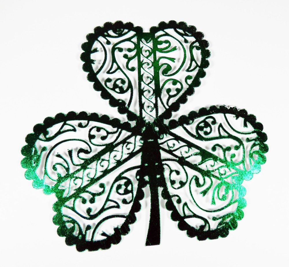 Foiled Shamrock for Slider Popup Card