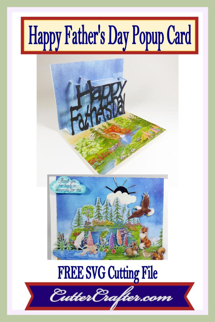 Happy Father's Day Popup Card Pin
