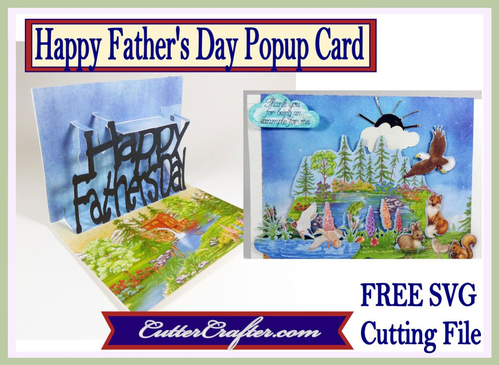 Pin for Happy Father's Day Popup Card