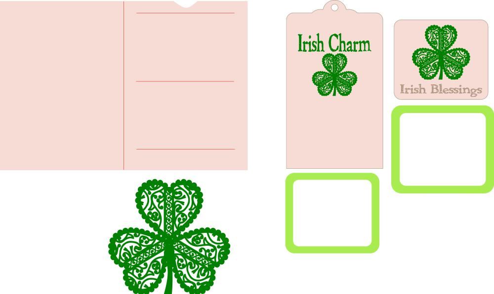 Irish Blessings Slider Popup Card Pieces