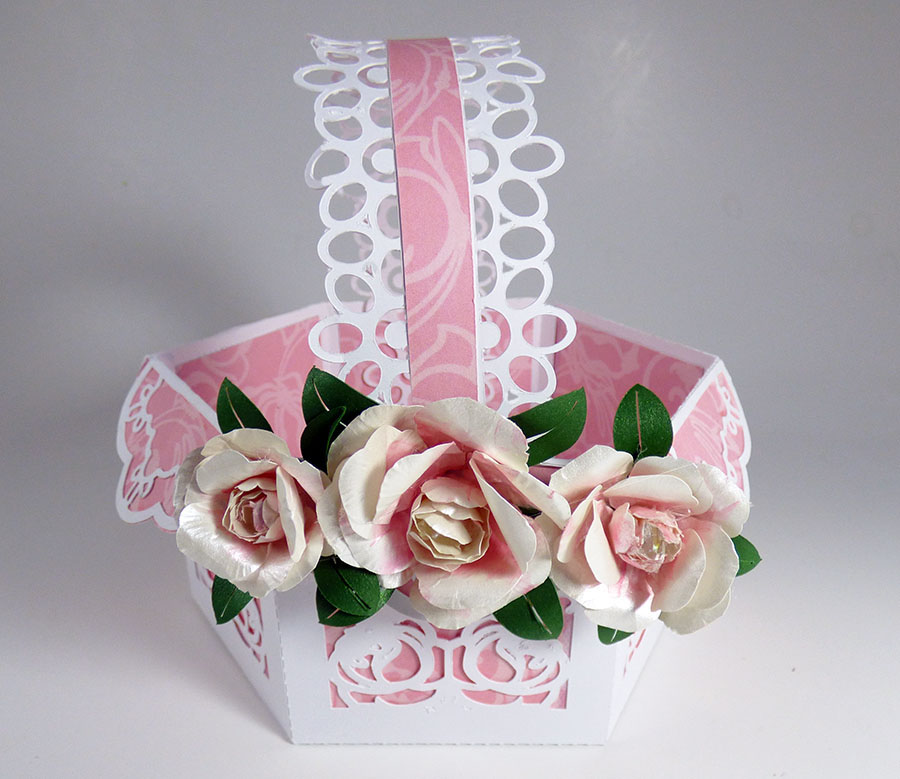 You can make Peony Gift Basket with 3D flowers