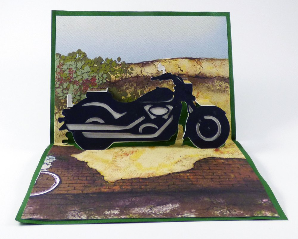Make A Motorcycle Popup Card