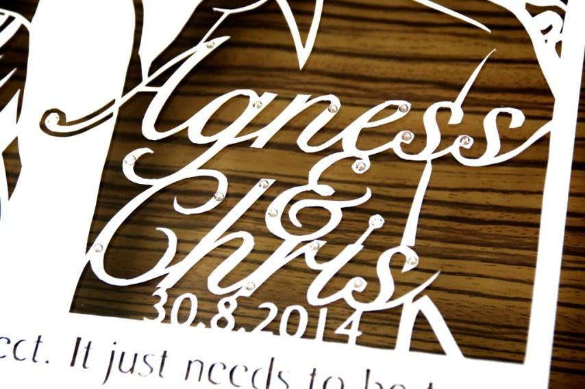 Cutteristic - Wedding Gift Agnes Chris 7