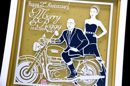 Cutteristic - Wedding Gift Merry Putrian Reggy Triumph Motorbike 2