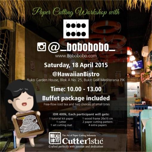 Cutteristic - Workshop Bobobobo Hawaiian Bistro instagram