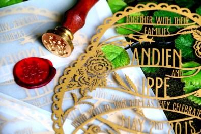 kartu undangan pernikahan andien dan ippe. Undangan pernikahan unik eksklusif dari paper cutting, desain khusus dari seniman kertas Dewi Kocu