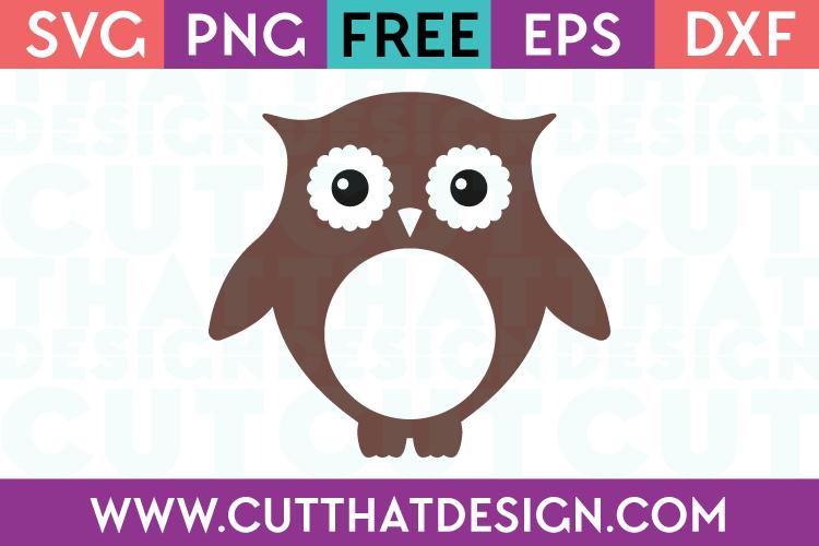 Download Free SVG Files | Owl Monogram Design Cut That Design