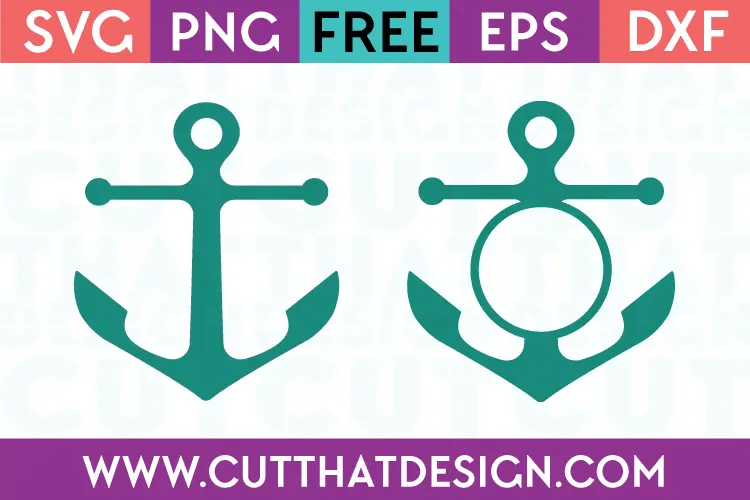Download Free SVG Files | Anchor Silhouette and Monogram Design Cut ...