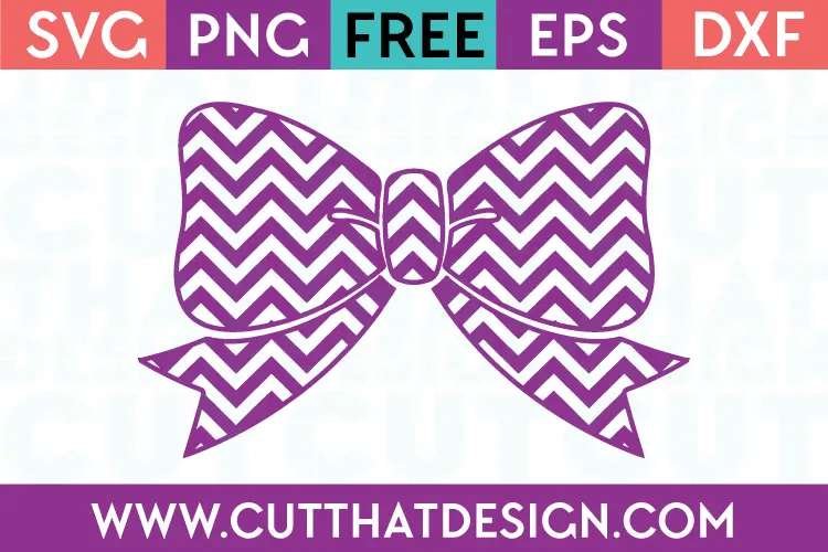 Download Free SVG Files | Chevron Bow Design Cut That Design